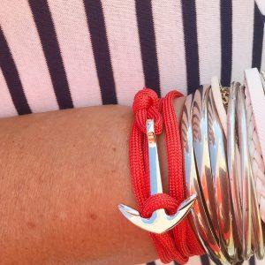 ancre et corde rouge