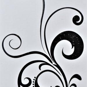 tatouage de fines arabesques sensuelles en tatouage éphémère
