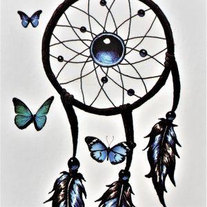 tatouage éphémère d'un attrape rêves