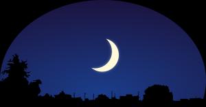 nuit étoilée et clair de lune