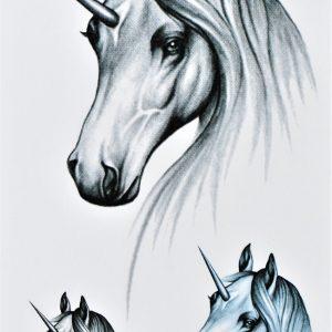 licorne en tatouage magique