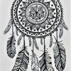 attrape rêves de rêves en tatouage éphémère