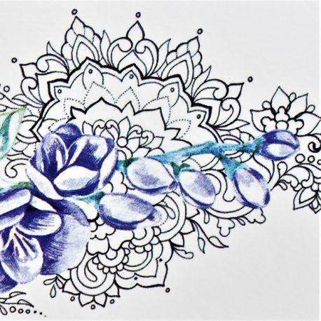 glycines en fleurs sur mandala