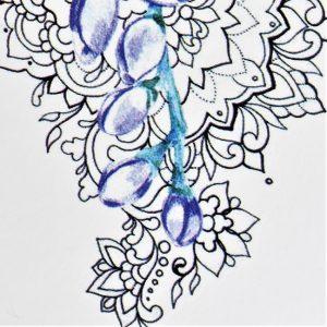 boutons de fleurs sur mandala