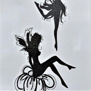 tatouage éphémère de fées qui dansent