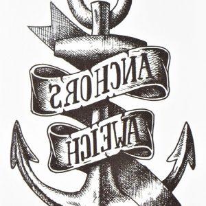 anchor black en tattoo