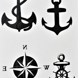 tatouage éphémère ancre de marins