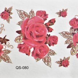 tatouage éphémère trois roses d'espoir