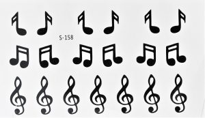 tatouage éphémère musique et clé de sol