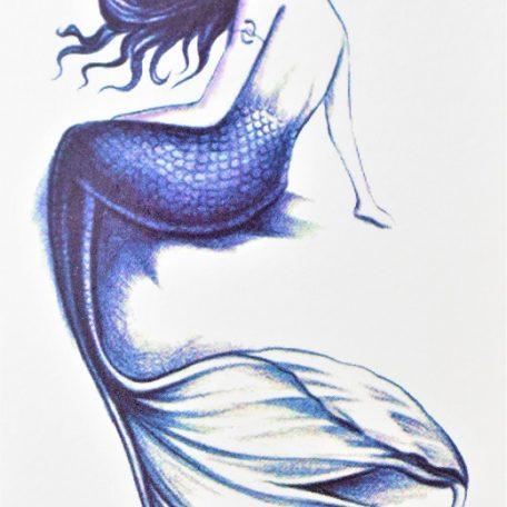 tatouage éphémère sirène bleu de mer
