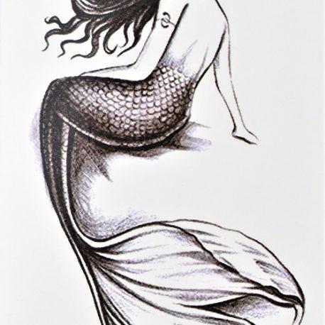 tatouage éphémère sirène dessinée