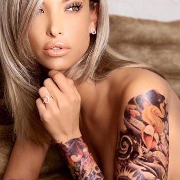 Mélanie dedigama et son faux tatouage