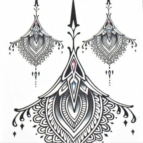 triptyque aérien en tatouage éphémère
