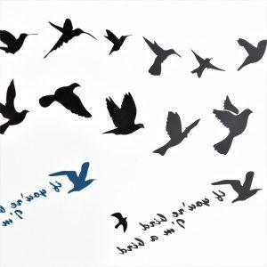 tattoo envol d'oiseaux aériens