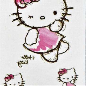 hello kitty en tattoo