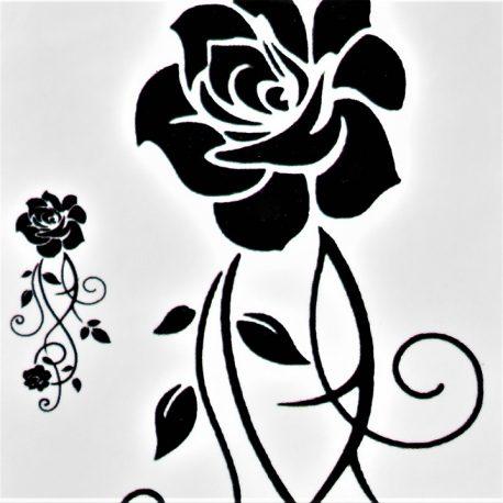 arabesque fleurie en tatouage